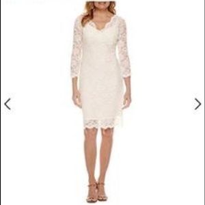 EUC ivory lace sequin dress